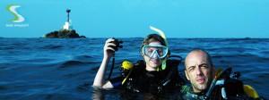 Deux plongeurs sur le Shark point