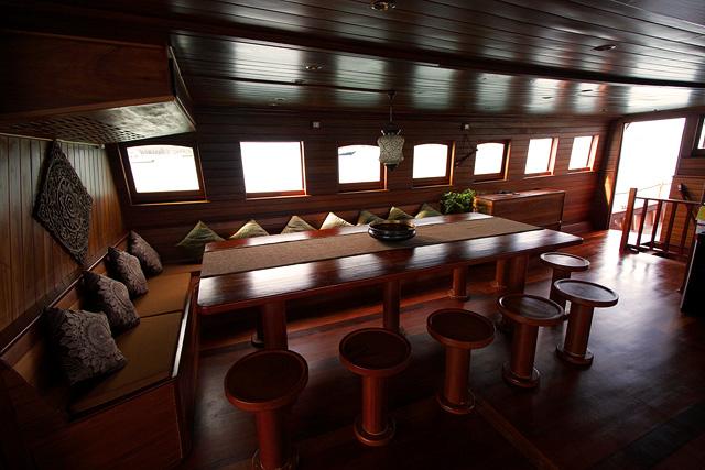 DIva Andaman Liveaboard Saloon