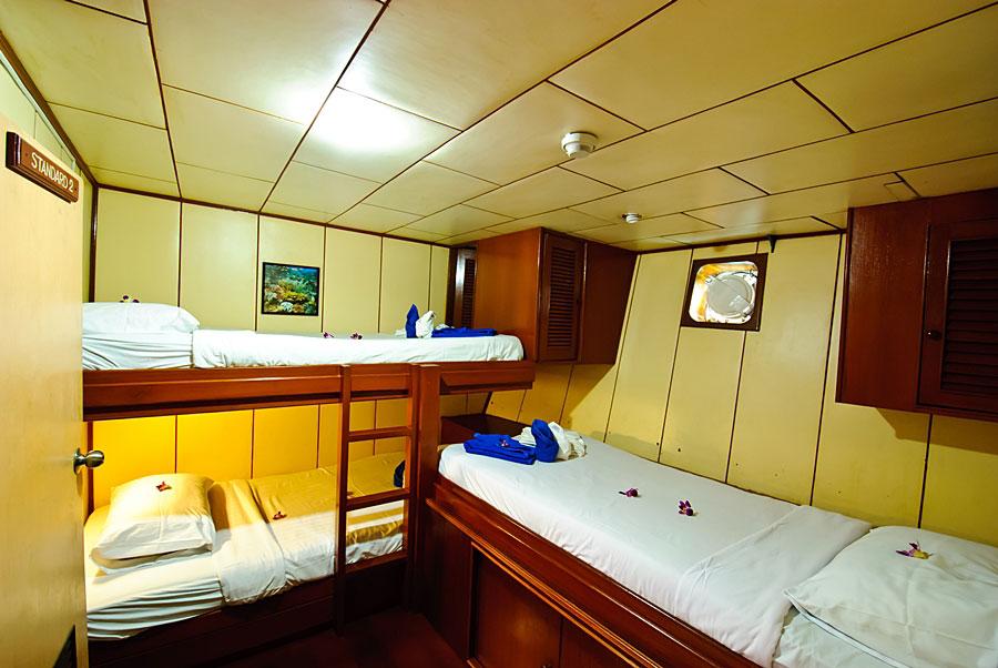 croisière Deep Andaman Queen Cabine triple
