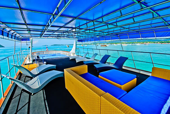 Deep Andaman Queen Liveaboard upper deck