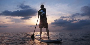 stand up paddle for rent with a very nice sunset at Kata