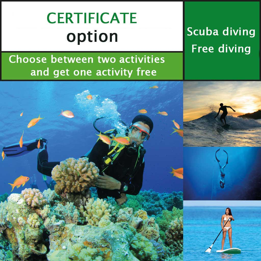 Packages of activities in Phuket-certificate option