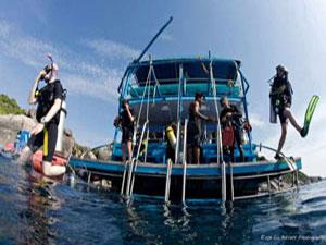 plongée à Koh Phi Phi bateau plongée