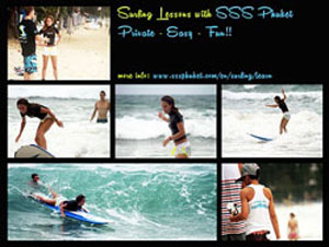 surfing lesson in phuket with sss phuket