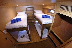 Diverace Class E Liveaboard twin cabin