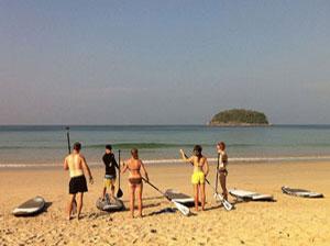 stand up paddle lesson phuket island