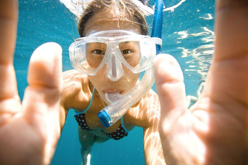 se mettre au snorkeling