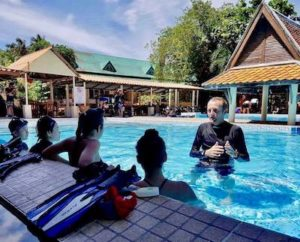 Apnea Academy level 2 Phuket - Pool