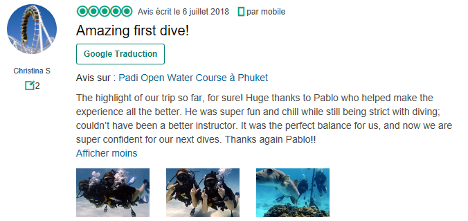 Racha Noi diving