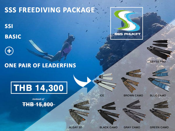 SSI basic freediver Phuket Package Leaderfins