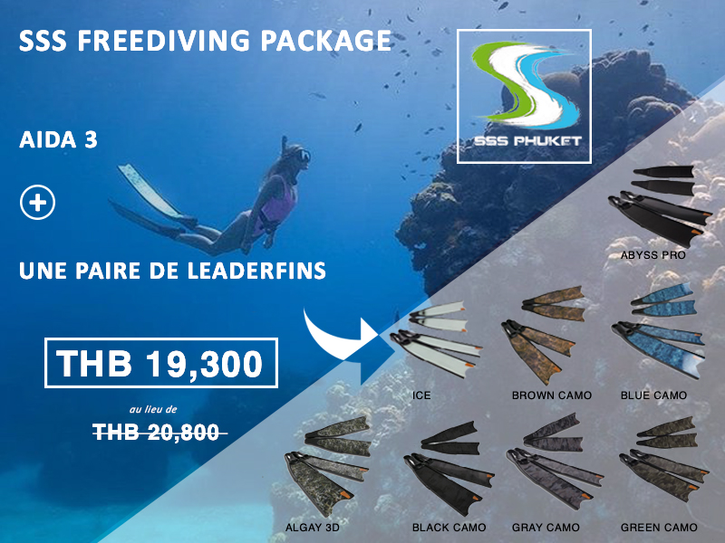 AIDA 3 Étoile Freediver Phuket Package Leaderfins