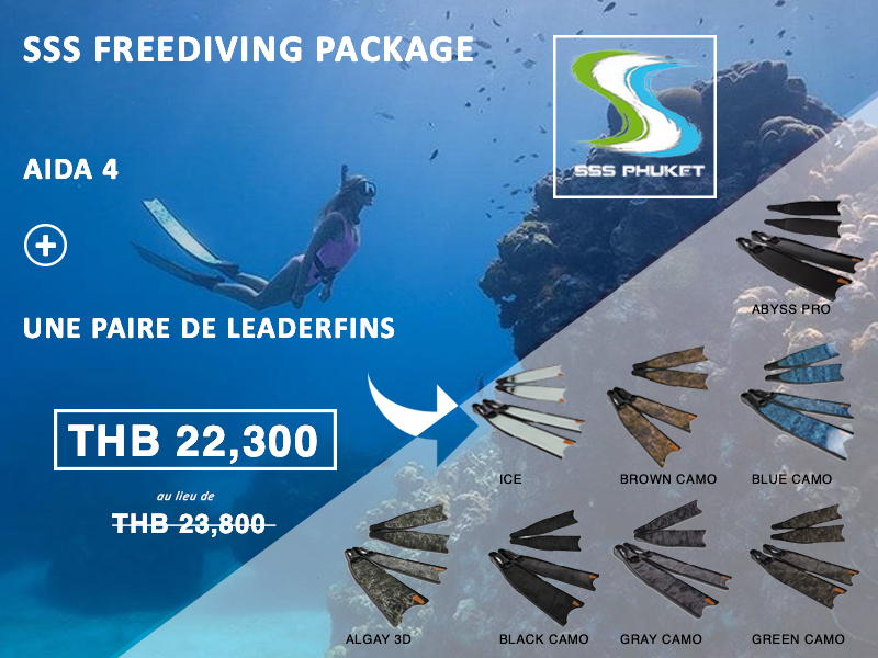 AIDA 4 Étoile Freediver Phuket Package Leaderfins