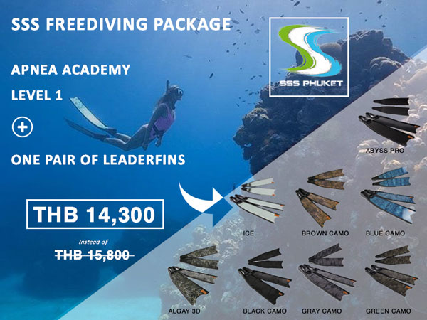 Apnea Academy Level 1 Phuket Package Leaderfins