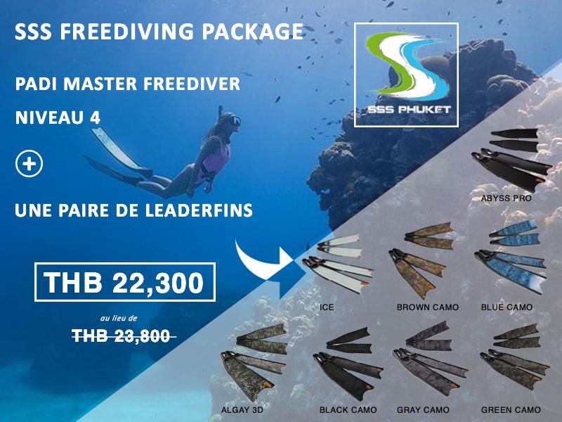 PADI Master Freediver Phuket Package Leaderfins