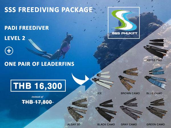 PADI Freediver Phuket Package Leaderfins