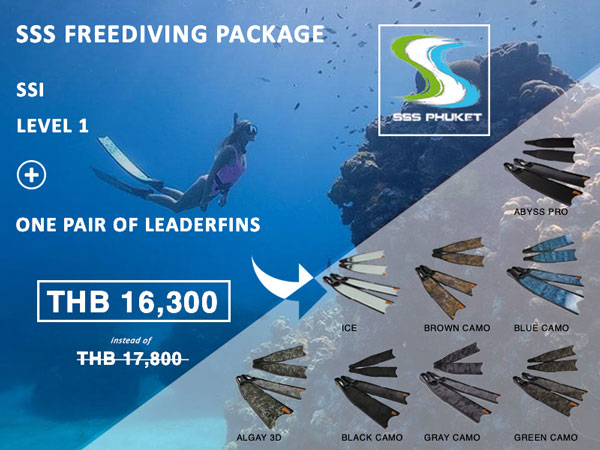 SSI Freediver Level 1 Phuket Package Leaderfins