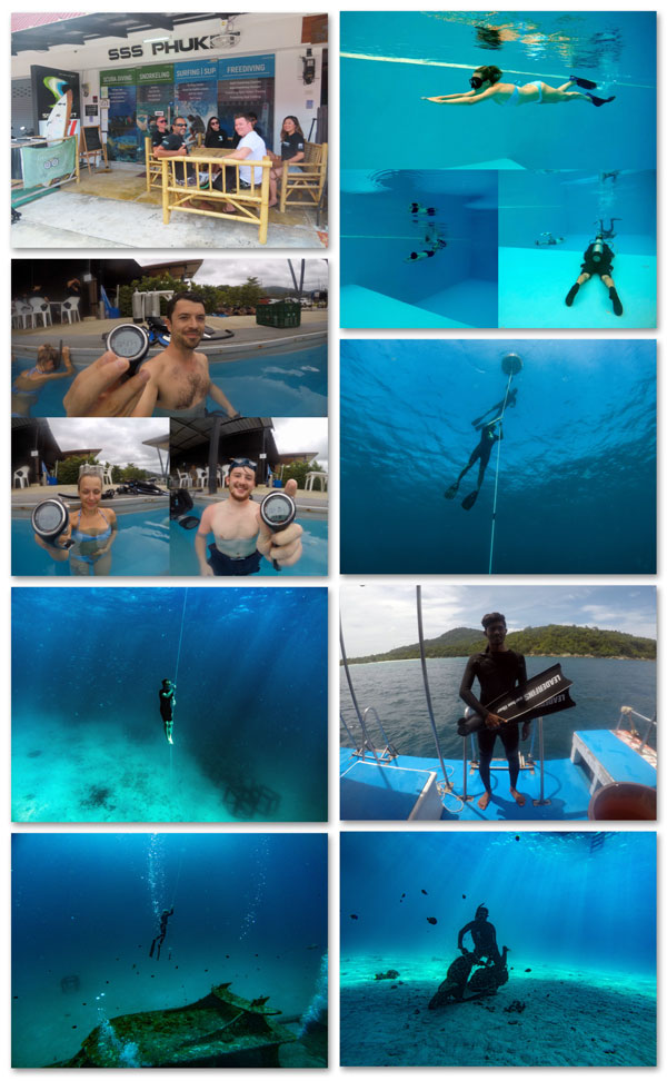 Phuket freedive SSI level 2 SSI Freediving Phuket Niveau 1